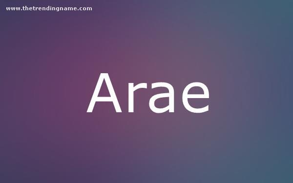 Baby Name Poster For Arae