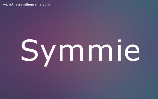 Baby Name Poster For Symmie
