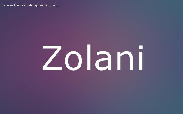 Baby Name Poster For Zolani