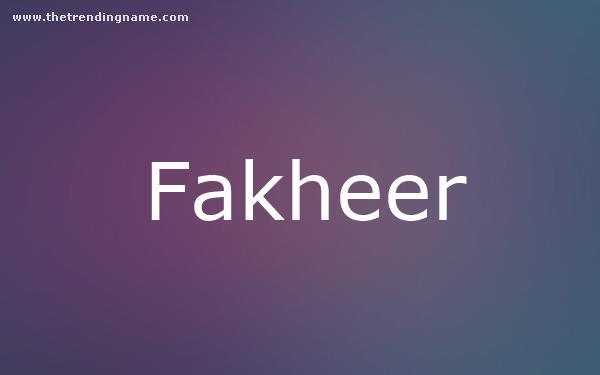 Baby Name Poster For Fakheer