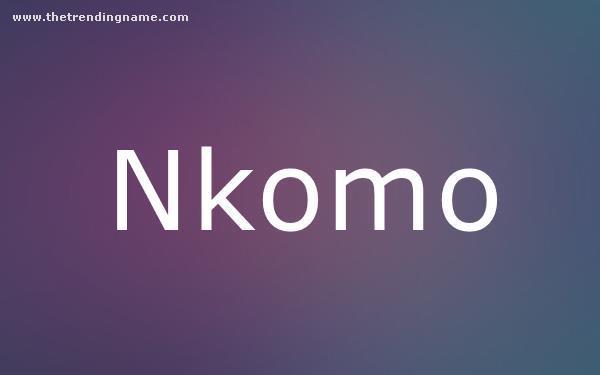 Baby Name Poster For Nkomo