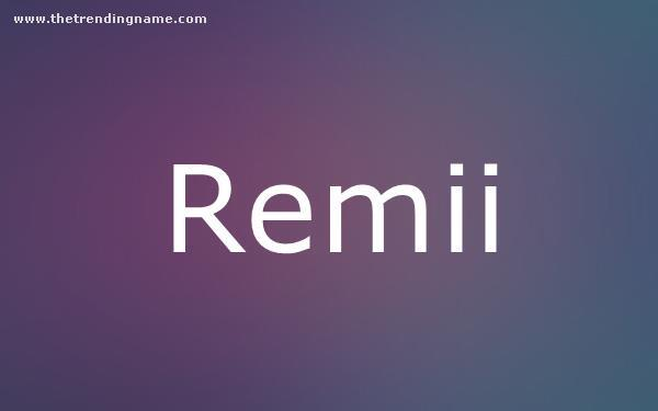 Baby Name Poster For Remii