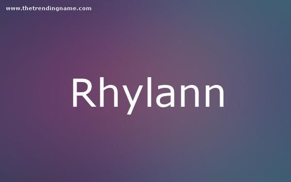 Baby Name Poster For Rhylann