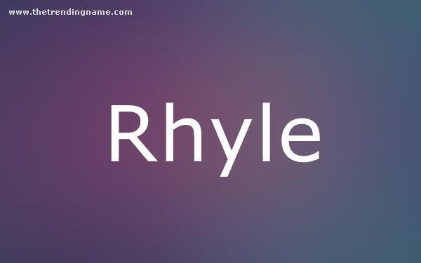 Baby Name Poster For Rhyle