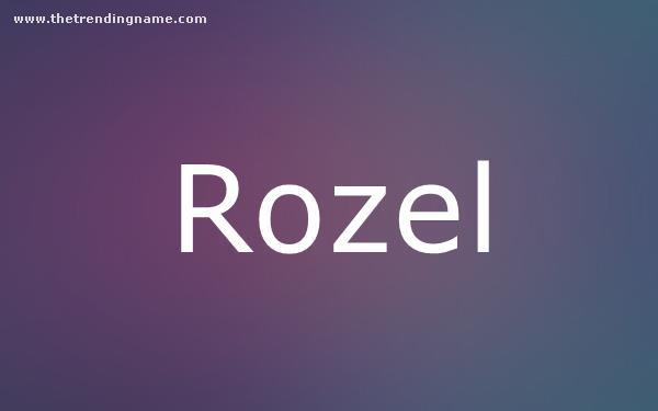 Baby Name Poster For Rozel