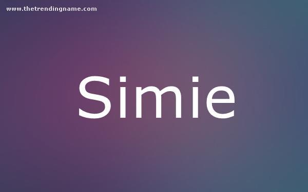 Baby Name Poster For Simie