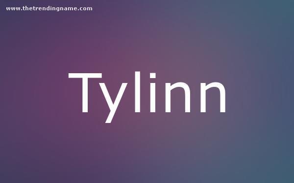 Baby Name Poster For Tylinn