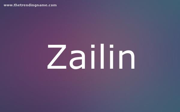 Baby Name Poster For Zailin