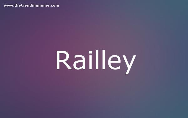 Baby Name Poster For Railley