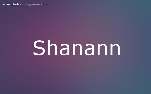 Baby Name Poster For Shanann