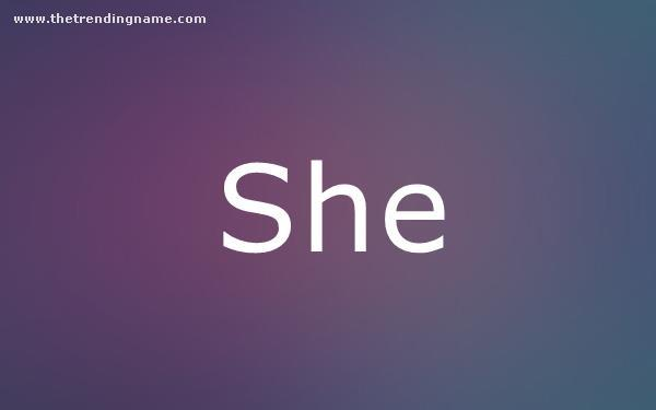 Baby Name Poster For She