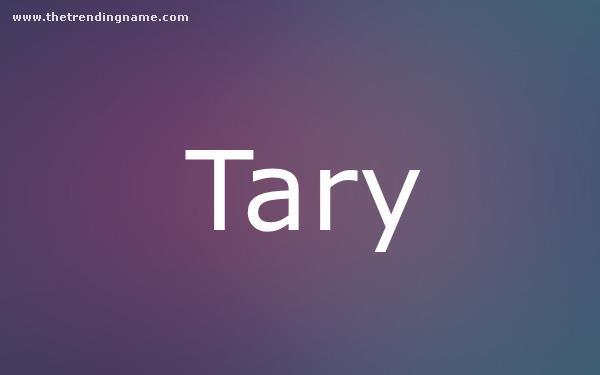 Baby Name Poster For Tary
