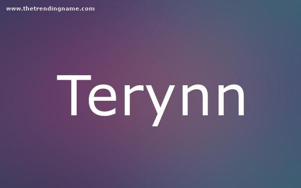 Baby Name Poster For Terynn