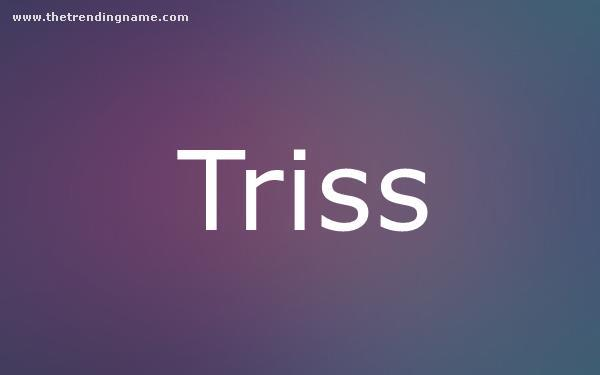Baby Name Poster For Triss