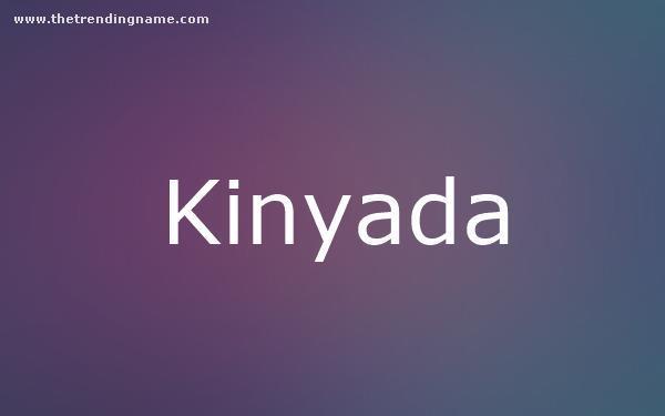 Baby Name Poster For Kinyada