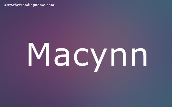 Baby Name Poster For Macynn