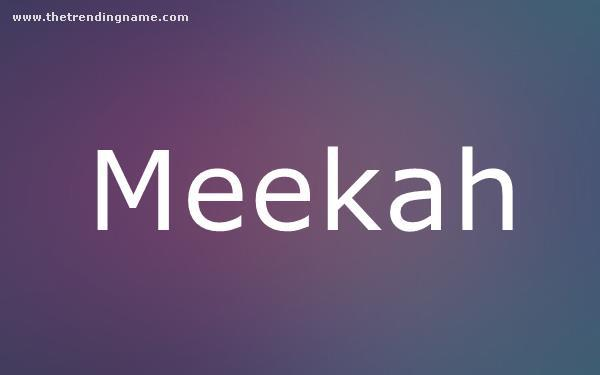 Baby Name Poster For Meekah