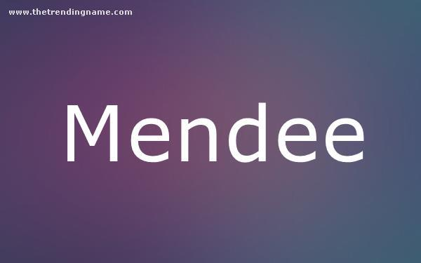 Baby Name Poster For Mendee