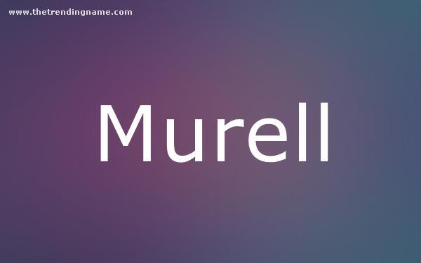 Baby Name Poster For Murell