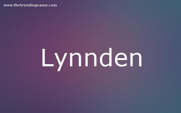 Baby Name Poster For Lynnden
