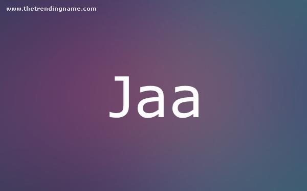 Baby Name Poster For Jaa