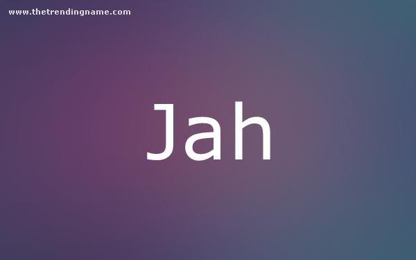 Baby Name Poster For Jah