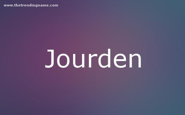 Baby Name Poster For Jourden