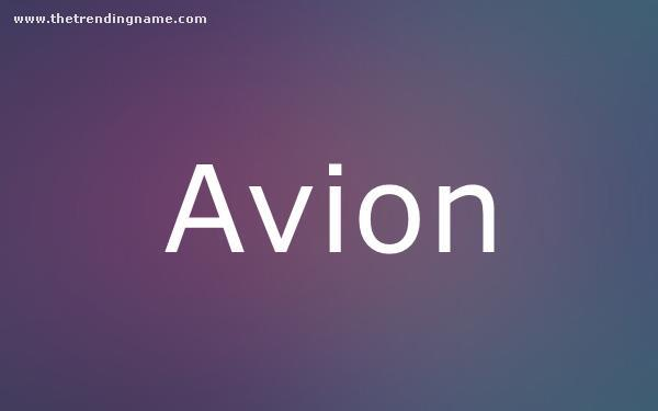 Baby Name Poster For Avion