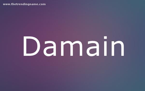 Baby Name Poster For Damain