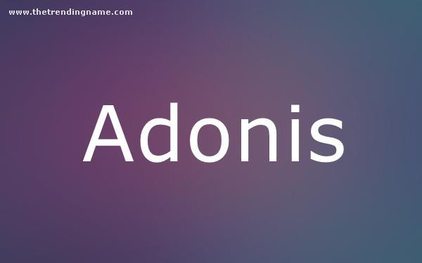 Baby Name Poster For Adonis