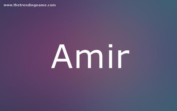Baby Name Poster For Amir