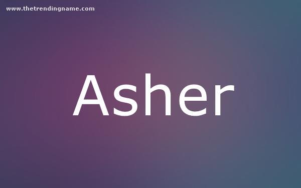 Baby Name Poster For Asher