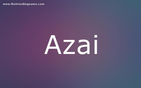Baby Name Poster For Azai