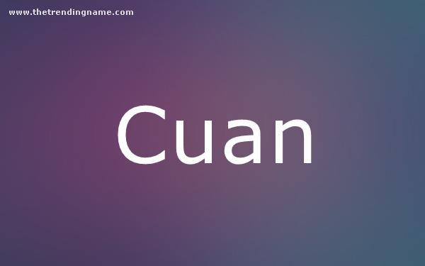 Baby Name Poster For Cuan