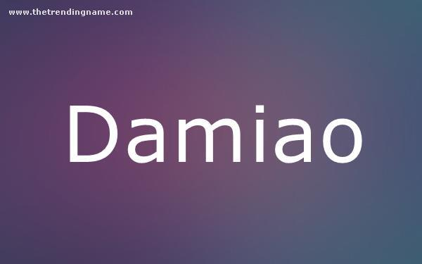 Baby Name Poster For Damiao