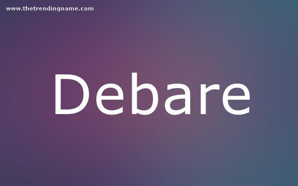Baby Name Poster For Debare