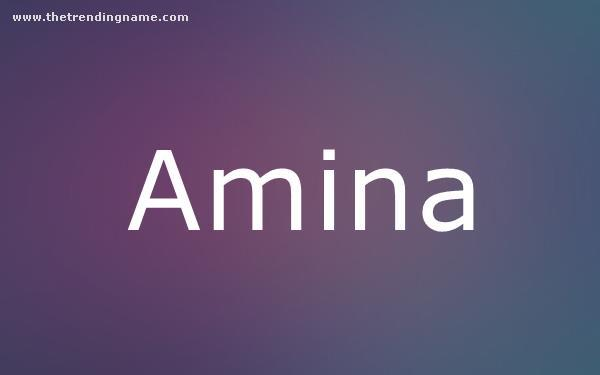 Baby Name Poster For Amina
