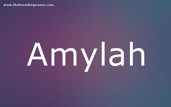 Baby Name Poster For Amylah