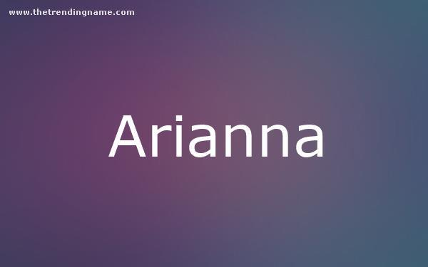 Baby Name Poster For Arianna
