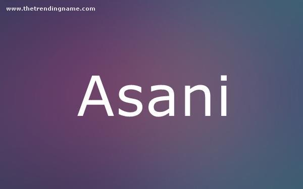 Baby Name Poster For Asani
