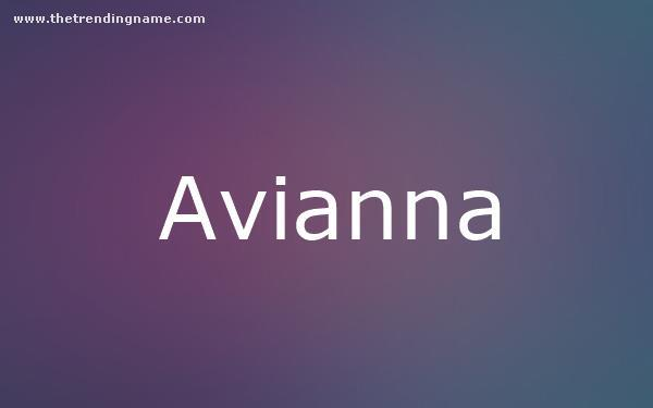 Baby Name Poster For Avianna