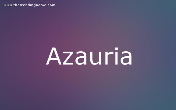 Baby Name Poster For Azauria