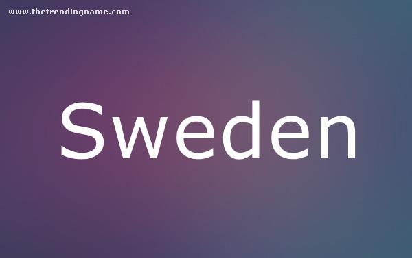 Baby Name Poster For Sweden