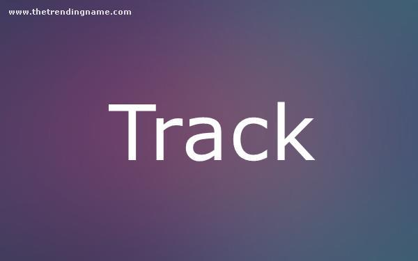 Baby Name Poster For Track