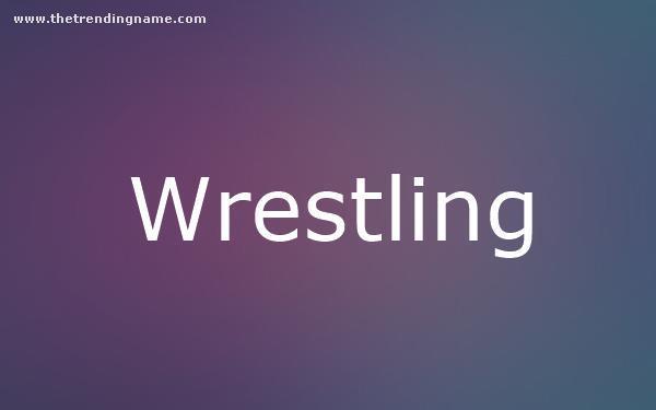 Baby Name Poster For Wrestling