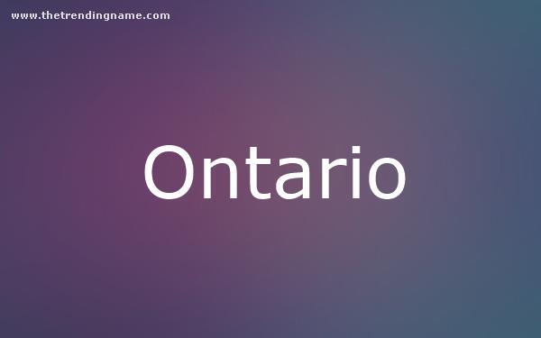 Baby Name Poster For Ontario