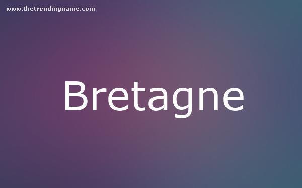 Baby Name Poster For Bretagne