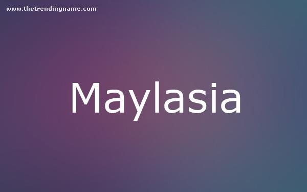 Baby Name Poster For Maylasia