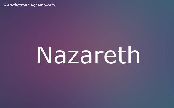 Baby Name Poster For Nazareth