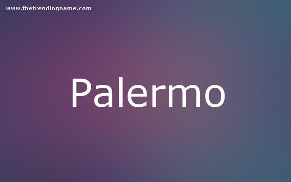 Baby Name Poster For Palermo